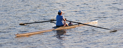 Creve Coeur Lake, in Maryland Heights, Missouri, USA - rower 1