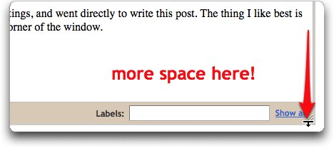 Blogger's resize button aft