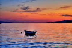 Altnoluk the sunset (mkurtel) Tags: sunset sea turkey boat nikon mount d60 buoyant nikond60 altnoluk saariysqualitypictures