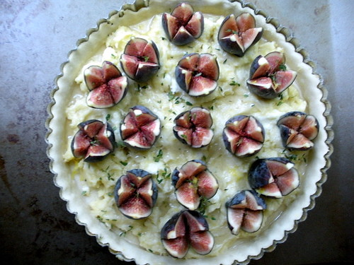 fig tart with frangipane
