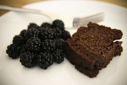 Chocolate Beetroot Cake with Blackberries