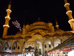 Sultan Achmed Mosque Istanbul/Turkey (Ginas Pics) Tags: house color building wall architecture night religious temple construction god muslim islam id religion mosque holy architect sacred gods medina spiritual enlightenment gebude prophet mekka deity allah muhammad fasting balik baraka qadir kaaba ramadam siyam cleansing hadith aqil alfitr muslima saum famousbuilding medresa minarett fiqh  tarawih sahur ltar imsak haddsch alfitrramazan salatalmaghrib alfadschraththani mumayyiz zakatalfitrzaktu lailatalqadr fastbreakingandmaghribsuhooreidprayers inshaallah eidulfitr baytanyay schahada  hadithen