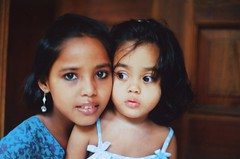Two new friends (N A Y E E M) Tags: friends portrait bangladesh chittagong nikonf6 rihanna basma fujicolorsuperia200 afnikkor35mmf2d nayeemkalam