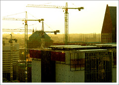 The Hague from great heights (macushla63) Tags: sunset zonsondergang denhaag hague heights hoogte