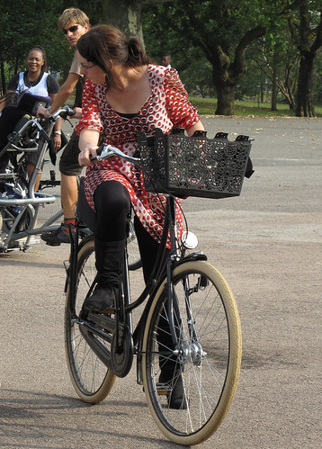Girl and Bike 1