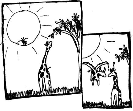 Flying Cowtoon - Giraffe