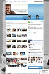 windows7 เทคนิคการใช้ facebook + Twitter ในหน้าเว็บ