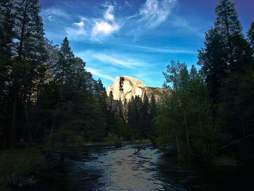 Half Dome seen from Sentinel Bridge