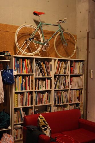 Bianchi Pista on bookshelf