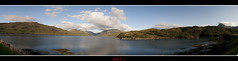 Panoramic view of Loch Glendhu (Carlos F1) Tags: mountain lake water lago scotland highlands agua nikon view unitedkingdom united scottish kingdom escocia panoramic panoramica vista loch montaa reino unido reinounido d300 escoces kylesku glendhu scotlanda