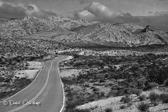 Valley of Fire Road (daniel.osterkamp) Tags: road sky bw usa white mountain black mountains valleyoffire clouds reisen nevada dramatic himmel berge valley vegetation backcountry overton travelphotography reisefotografie vereinigtestaaten canonef24105mmf40lisusm hillslandscape danielosterkamp osterkampphotographie