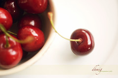 Seasonal delight (dhmig) Tags: red italy stilllife food macro nature closeup fruit cherry nikon dof bokeh naturallight delight 50mmf28 vignola nikond7000 dhmig dhmigphotography vignolacherry