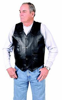 1010_Mens_Plain_Vest by Dynamicleather-US