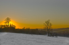 Winter sunset, Coulsdon (Ben124.) Tags: trees winter sunset sky sun snow frost surrey coulsdon infinestyle