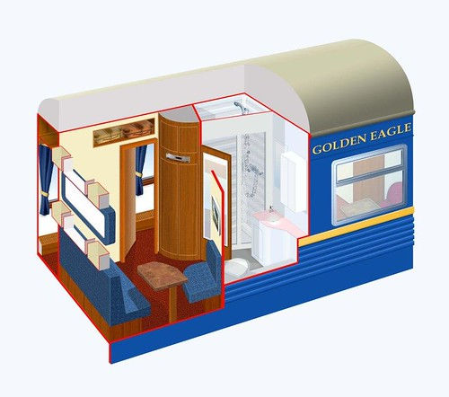 Train Chartering - The Golden Eagle's Gold Class plan by day