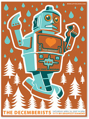 The Decemberist Reprint (tad carpenter) Tags: new illustration poster robot tad carpenter decemberist