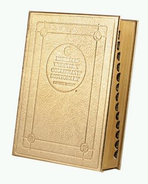 gold leather dictionary