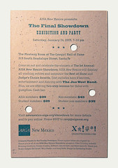 AIGA New Mexico Invitation Back (Cranky Pressman) Tags: graphicdesign postcard invitation letterpress aiga papercraft diecut