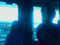 On the monorail to Magic Kingdom