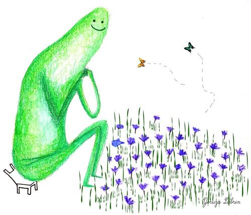 cronopio y flor / YL