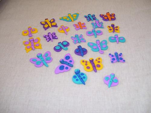 Botões borboleta * butterfly buttonS