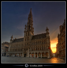 City hall @ Grand place, Brussels, Belgium :: HDR :: Vertorama (Erroba) Tags: brussels photoshop canon rebel belgium belgique cityhall tripod belgi bruxelles sigma tips remote 1020mm erlend brussel hdr stadhuis grotemarkt cs3 lagrandeplace 3xp photomatix tonemapped tonemapping xti lhteldeville 400d erroba robaye erlendrobaye lightiq lamairi