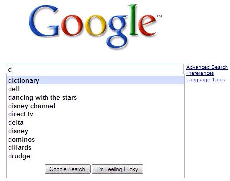 Google Suggest Test
