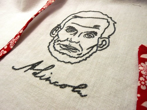 Abraham Lincoln Embroidery