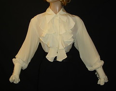 Diane Von Furstenberg Silk Ruffled Blouse Full Length Front (mondas66) Tags: silk ascot blouse frilly jabot ruffled dianevonfurstenberg frilled