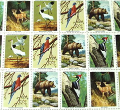 Five cent U.S. stamp sheet - National Wildlife Federation [Photo by kevin dooley] (CC BY-SA 3.0)