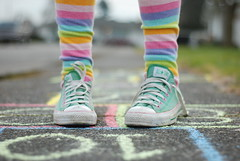 hopscotch #2 (lydiafairy) Tags: pink woman selfportrait green feet 50mm chalk jump nikon shoes colorful play bright stripes sidewalk numbers converse series hopscotch hop recess leap playful sidewalkchalk allstar chucks childlike shoelaces stripedsocks tellmewhatyouthink d80 flickrchallengewinner selfportraitfeet brightcolorspastel tellmewhatyouthinkchallengewinner