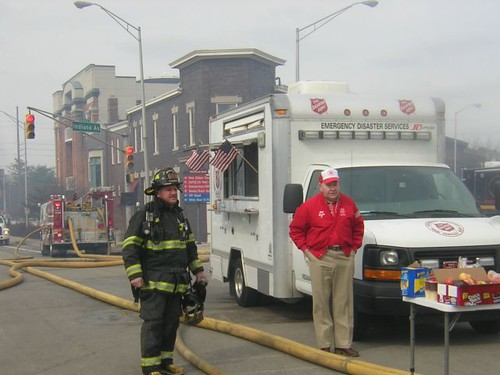 The Salvation Army was on site to provide food and hydration for firefighters and emergency workers.