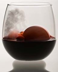 Just a sip! (M.V. Radar) Tags: mist ice cup glass fog blood wine smoke fake dry bubbles bubble wineglass thick dryice