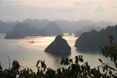 from the top of titop island, halong bay