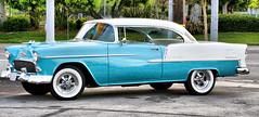 Still Dreaming (Maureen Bond) Tags: ca classic car vintage whitewalls turquoise air wheels explore chevy chrome 1950s rims bel twotone yourphototips maureenbond