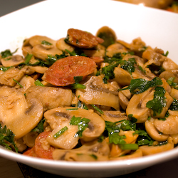 Mushrooms with Chorizo