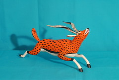 Which is Faster? Antelope (Teyacapan) Tags: wood animals mexico madera folkart crafts artesanias oaxaca antelope carvings alebrijes zapotec