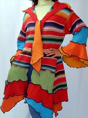 Sante Fe Sweater Coat, front (brendaabdullah) Tags: fashion fun recycled oneofakind crochet knit style funky indie etsy ecofriendly reclaimed tunics salvagedmaterials restyled brendaabdullah