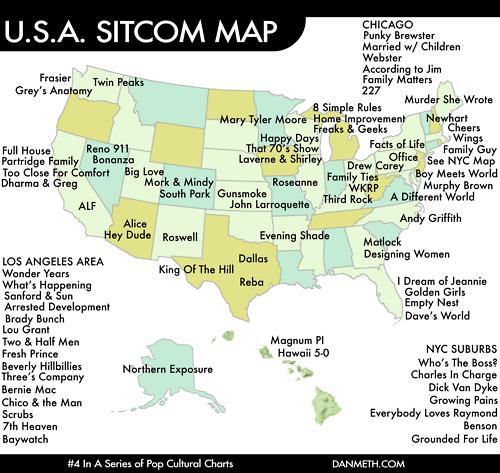 http://danmeth.com/ Dan Meth USA Sitcom Map