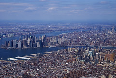 Brooklyn and Manhattan Bridges (Katy Silberger) Tags: newyorkcity manhattan brooklynheights brooklynbridge manhattanbridge eastriver hudsonriver aerialphotography jol nikond60 colorphotoaward absolutelystunningscapes
