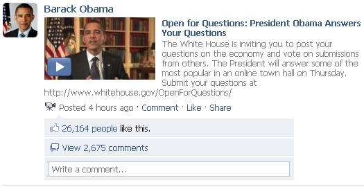 President Obama's Facebook Video Marketing