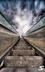 Stairway to Heaven (revised) (A.G. Photographe) Tags: cloud paris france french nikon highway heaven escalator sigma route ciel skype uga nuage soe escalier hdr paradis francais 1224 rampe platinumphoto d700 goldstaraward ultragrandangle antoxiii
