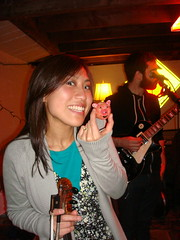 Hiromi with Pink frosted Floyd donut