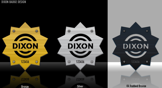 Dixon Drum Badges