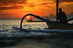 Waiting a Friend (chimot_cool) Tags: bali beach beautiful sunrise fun asia moments traveling denpasar sanur diamondclassphotographer flickrdiamond earthasia beautifulbali anggarawijaya