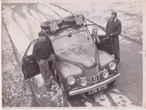 Jowett Javelin - 1952 Monte - Frank  & Lola  Grounds & Jack Hay por Rally Pix.