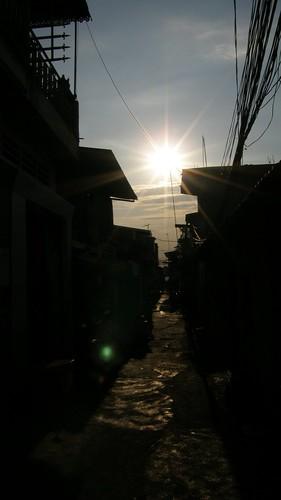 66.Boeng Kak Lake的曲折小街道