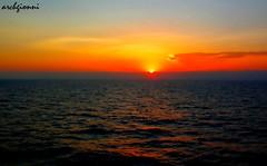 alba dalla nave (archgionni) Tags: sea summer sky orange sun clouds sunrise reflections holidays nuvole mare waves estate alba cielo sole reflexions riflessi vacanze arancione onde coth martirreno tirrenosea vosplusbellesphotos