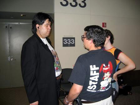 Otakon 2004 - Doc in Con Chair Mode (Click to enlarge)