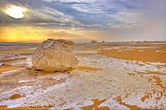 (656) White Desert Sunset (avalon20_(mac)) Tags: africa travel blue sky sahara nature geotagged sand desert egypt 500 misr eos40d schulzaktivreisen